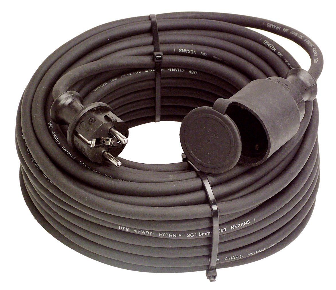 as  Schwabe 60341 GummiVerlängerung, 50m H07RNF 3G2,5, schwarz, IP44 Gewerbe, Baustelle  BaumarktKundenbewertungen