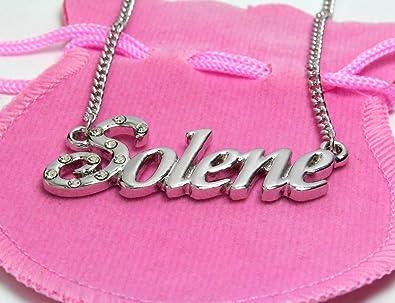 Personnalisé Personnalisé Nom Plaque Collier en acier inoxydable chaîne cadeau de St-Valentin