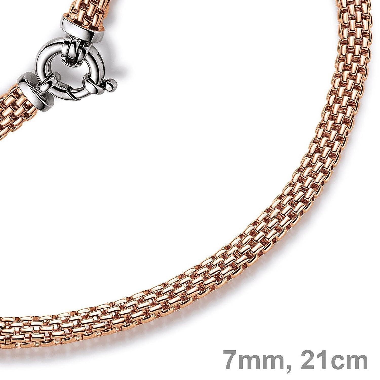 7mm Armband Armkette Himbeere aus 585 Echt Gold Rotgold 21cm Armschmuck Damen bestellen
