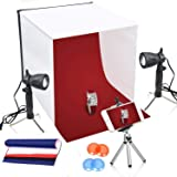 Emart 16 x 16 Inch Lighting Photography Studio Box Kit Tabletop Photo Light Shooting Tent, Portable Table Top Tripod Stand Holder for Phone