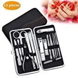 ONME 15 Pcs Nail Clippers Set Pedicure Kit Stainless Steel Nail  Clipper,Professional Nail Scissors b5b8aef21f
