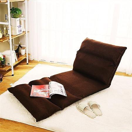 LIYONGDONG® Sedia pigra singola Sedia divano pieghevole per camera da letto Creative tatami Letti moderni semplici nel soggiorno , brown
