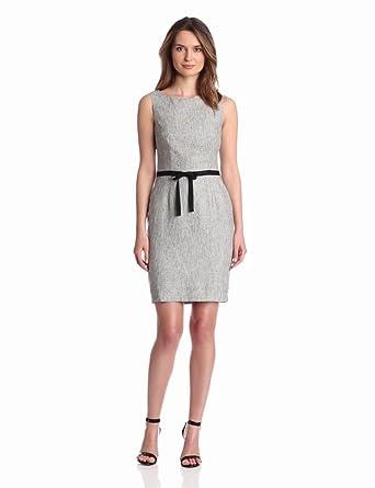 Paper Crown Women's Fairfield Dress, Charcoal Tweed, 2