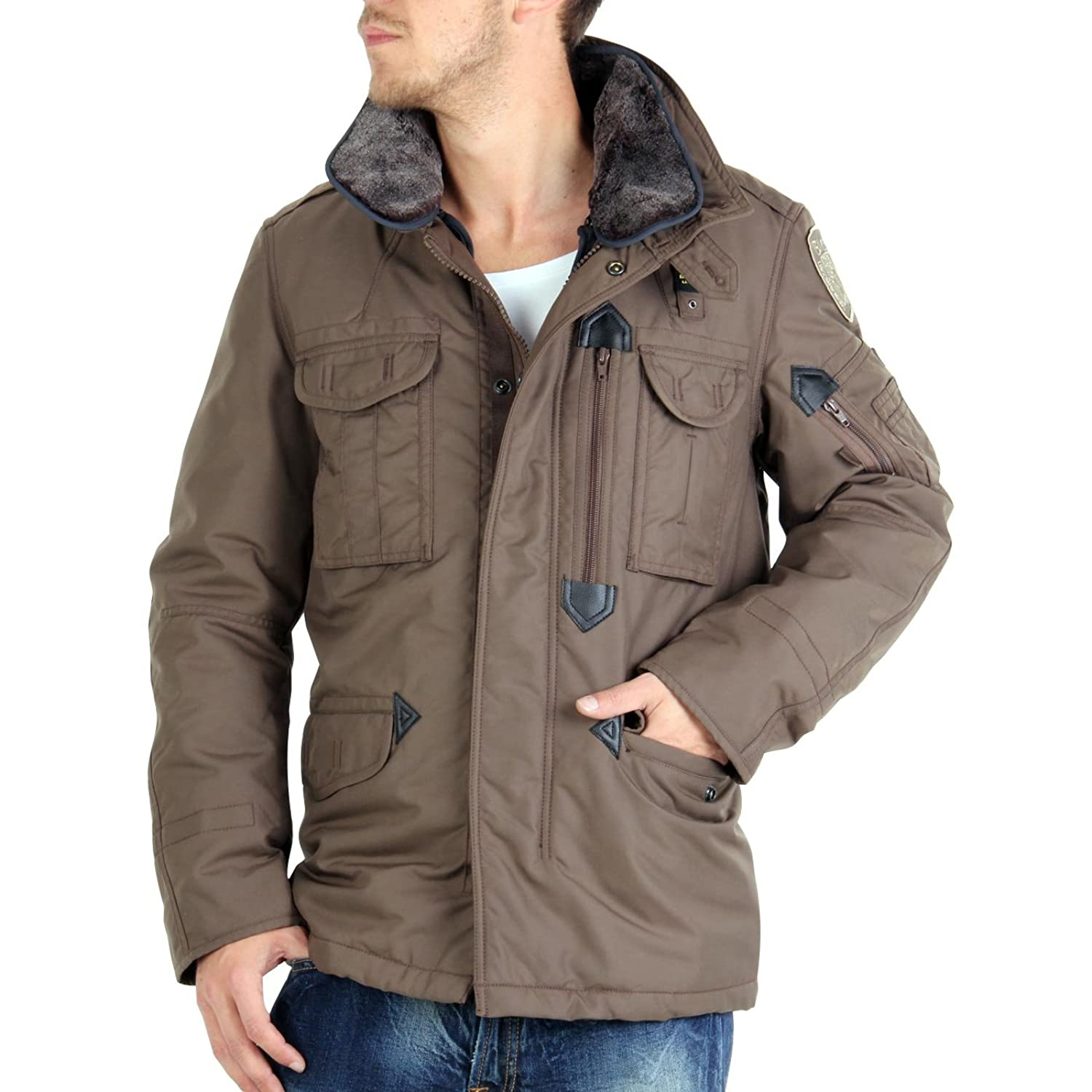 BLAUER USA Herren Daunenjacke 2 in1 Brown 0447