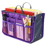 Superbpag Women Travel Insert Handbag Organizer Purse Organizer Tidy Bag Purple