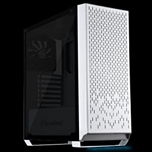 SilverStone Technology Metal ATX Computer Tower Case with Tempered-Glass Side Panel and Ample Air Flow in White (SST-PM02W-G) (Color: PM02W-G)