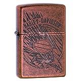 Zippo Harley-Davidson Antique Copper Logo Pocket Lighter (Color: Antique Copper)