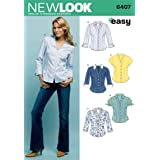 New Look Sewing Pattern 6407 Misses Tops, Size A (10-12-14-16-18-20-22) (Tamaño: A (10-12-14-16-18-20-22))