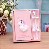 Unicorn Notebook Set Pink Journal/Pen/Scratch pad, Unicorn Stationery Supplies Gift (Unicorn-A)