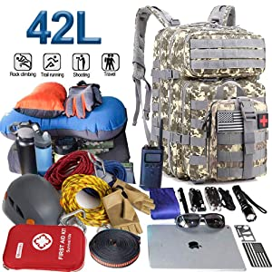 Army 3 Day Assault Pack,42L Molle Bag Rucksack Monoki Military Tactical Backpack