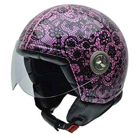 NZI 050267G704 Zeta Graphics Private, Casque de Moto, Taille S Multicolore