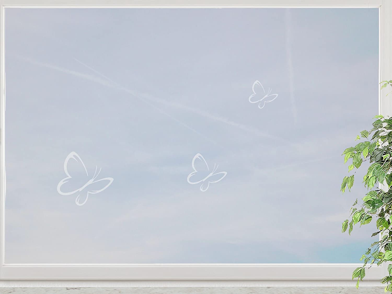 wandfabrik – Fenstersticker Schmetterlinge 3 Stück Motiv 3 – frosty – 798 – (Xt) kaufen