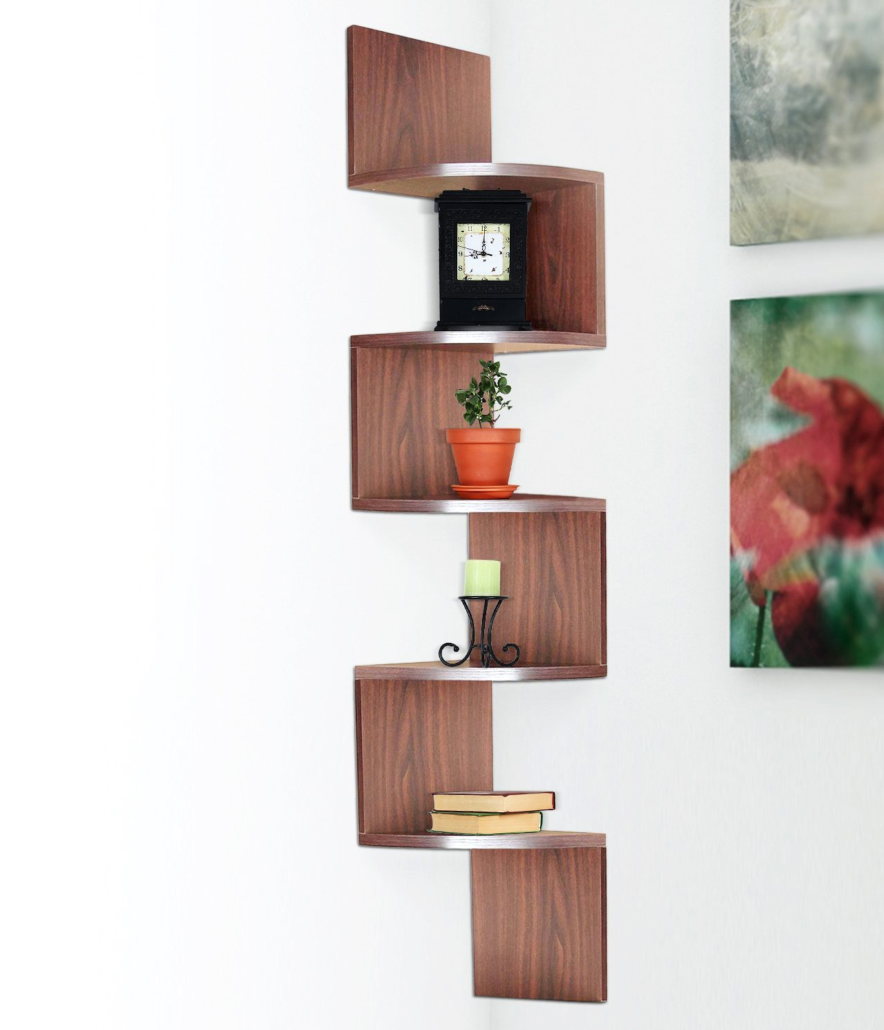 Decorative Bookshelf Case For Home Corner Ladder Tree