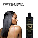 Gold Label Professional Brazilian Keratin Blowout Hair Treatment Super Enhanced Formula Specifically Designed for Coarse, Curly, Black, African, Dominican, and Brazilian Hair Types 240ml (Tamaño: 240ml)