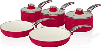 Swan SWPS5020RN 5 Pc. Saucepan Set