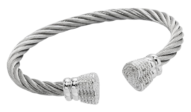 Burgmeister Jewelry Damen-Armspange 925 Sterling Silber Zirkonia JBM3012-521 kaufen