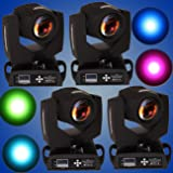 Ridgeyard 4 pcs Touch Screen 7R 230w Zoom Beam Moving Head Light 16CH / 20CH 14 Color DMX512 DJ Bar Party Stage Beam Light (Tamaño: 4 PCS)