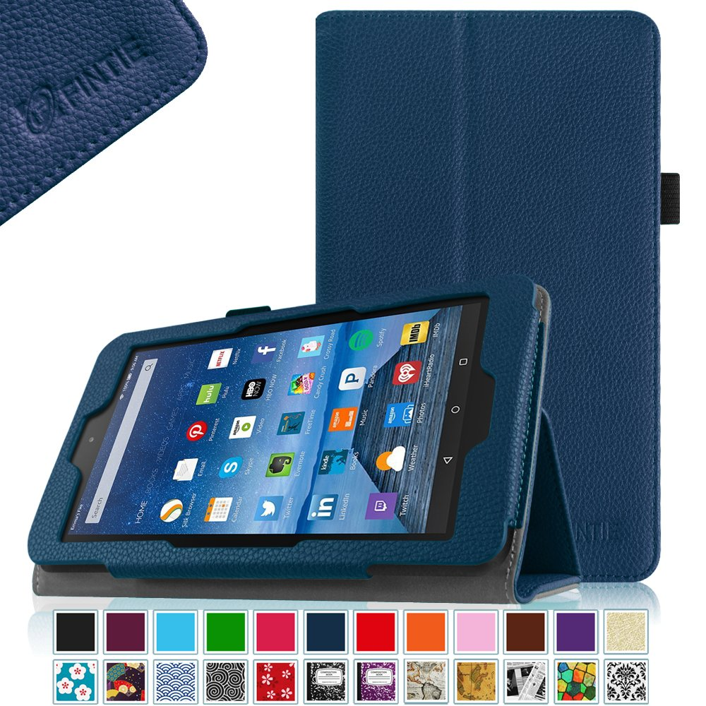 Fintie folio slim smart leather cover case stand for for Amazon casa