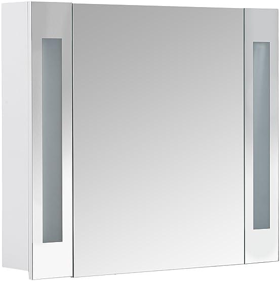 Galdem armadietto, legno, Legno, bianco, 80x65x15 cm