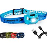 Flagship-X Phoenix Rechargeable Waterproof LED Camping Headlamp Flashlight for Running - Light Blue