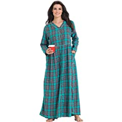 1 only necessities plus size flannel snapfront lounger - Flannel Nightgowns