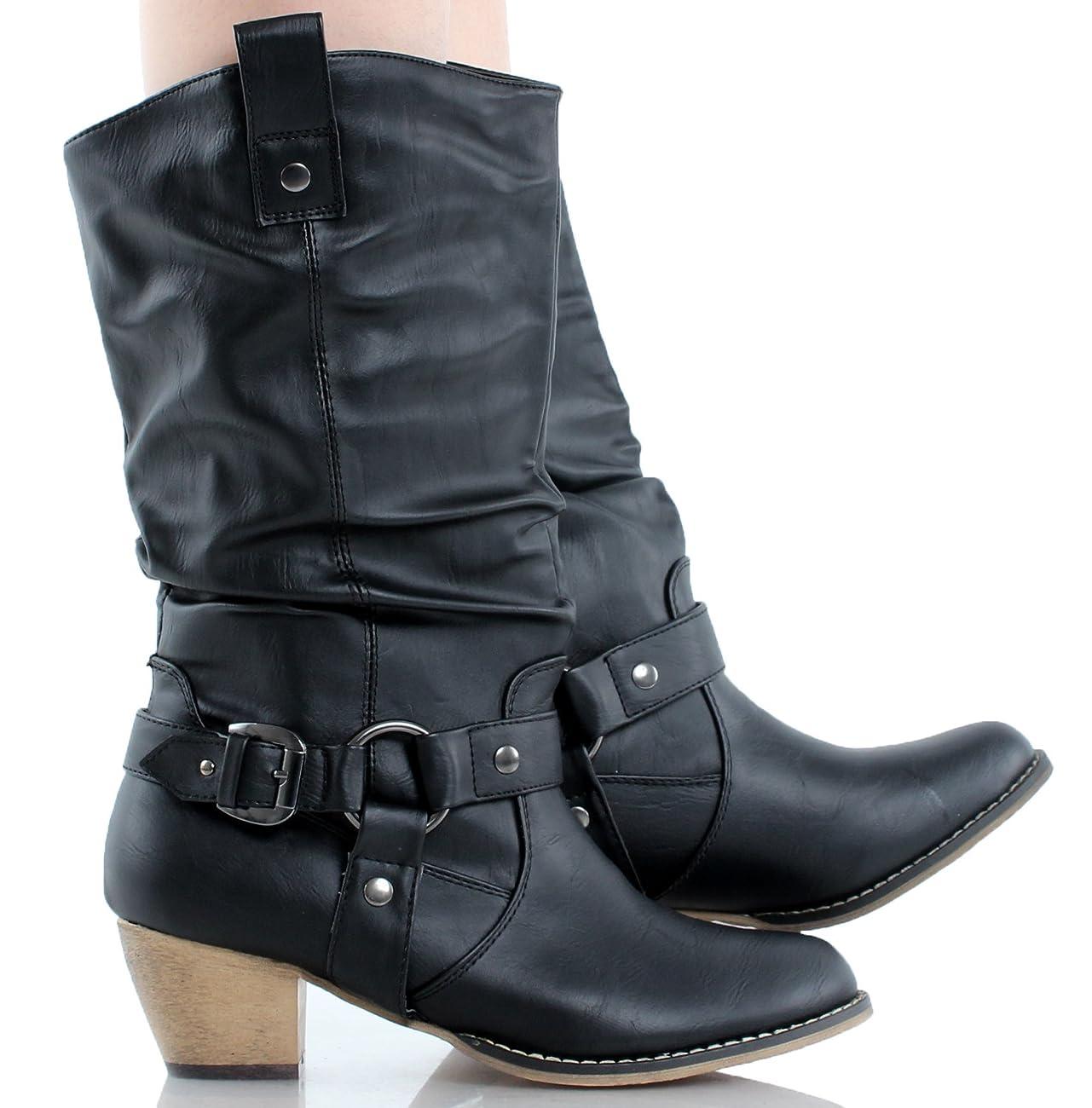 Refresh Women Wild-02 Western Style Cowboy Boots 5