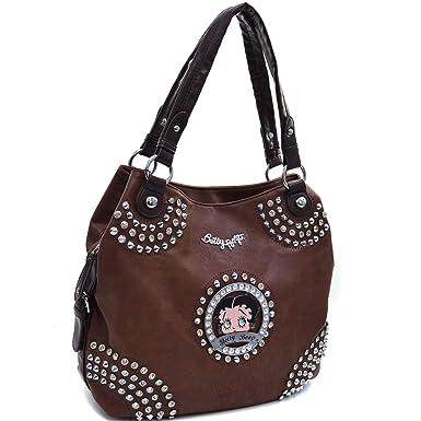 Brown Studded Shoulder Bag 31