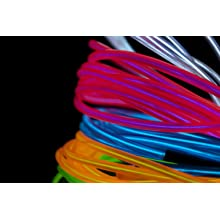 Fortune Products ELFW-5-2W Electroluminescent Flash Wire, 5mm Diameter x 2 yd Length, White