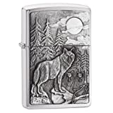 Zippo Timberwolves Lighter (Color: Timberwolves, Brushed Chrome, Tamaño: 5 1/2 x 3 1/2 cm)