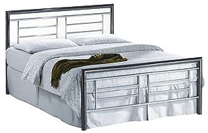 Birlea Montana 5ft Kingsize Metal Bed, Chrome & Nickel       review