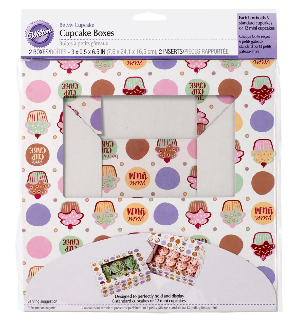 Wilton 415-129 - Cajas Mi Cupcake, 2 set (6 unidades), 7.6 x 24.1 x 16.5 cm   revisión y más información