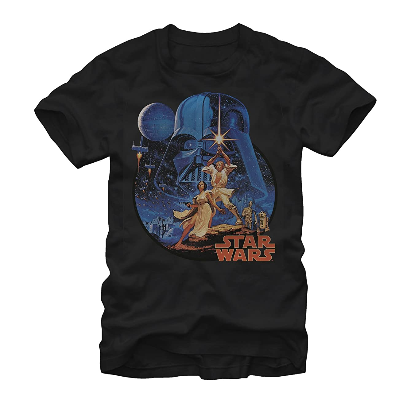 Star Wars Vintage Art Mens Graphic T Shirt 0