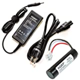 HQRP Kit: Battery and Charger for Harman Kardon Onyx, Onyx Studio Portable, Studio-2, Studio-3, Studio-4 Speaker ESX2567Q AU38AA-00 AU38AA-OO LI11B001F Wireless Speaker System AC Adapter + Coaster