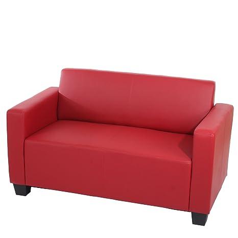 Sistema modulare Lione N71 salotto ecopelle divano 2 posti ~ rosso