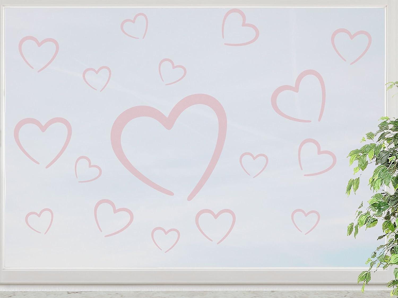 wandfabrik – Fenstersticker Herzchen 17 süße Herz (HZ117) – rosé – 758 – (Xt) online kaufen