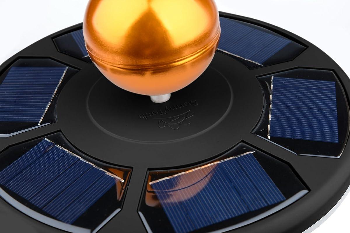 Sunnytech 2017 New Arrival 3rd Generation Black - Solar Power Flag Pole Flagpole Light 100% Satisfaction Guarantee - Biggest Size - Best Solar Flag Light in the World