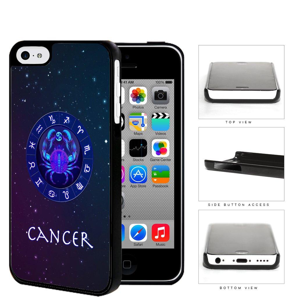 Cancer Astrological Sign With Horoscope Symbol Hard Plastic Snap On Cell Phone Case Apple iPhone 5c
