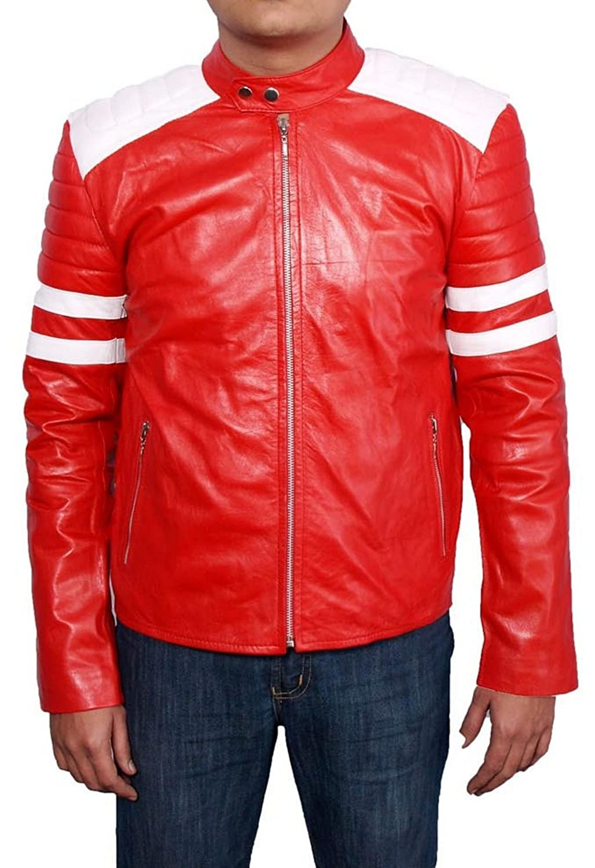 Men's Fight Club Leather Jacket günstig kaufen