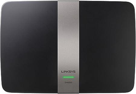 Linksys - EA6200-EW - Routeur WiFi AC900 Double Bande avec Logiciel Smart Wi-Fi - Noir