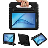 Color Our Life Samsung Galaxy Tab E 9.6 Kiddie Case-Shock Proof Light Weight Convertible Handle Stand Cover for Samsung Galaxy Tab E 9.6 Inch Tablet, Black (Color: Black, Tamaño: Tab E 9.6)