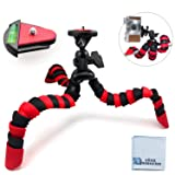 12 Inch Flexible Tripod w/ Wrapable Legs. Quick Release Plate for DSLR Cameras and Camcorders, eCost Microfiber Cleaning Cloth