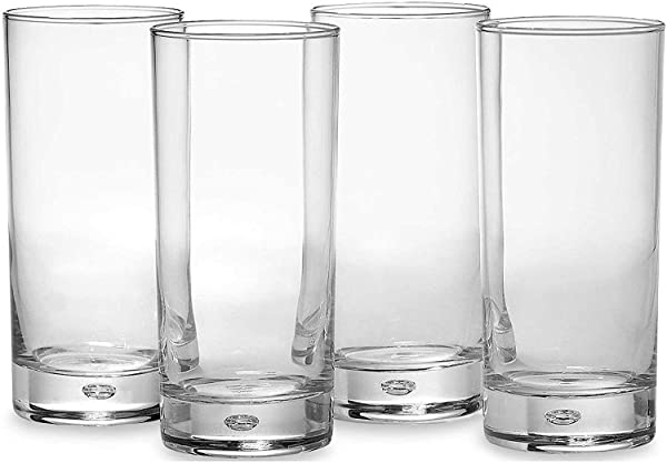 3d68d7e75532 Circleware Air Bubble Heavy Base Highball Drinking Glasses