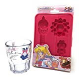 Sailor Moon Silicone Chocolate and Ice Cube Mold Tray and Sailor Moon Cup Set, BPA Free (Mold/Cup set) (Color: Pink)