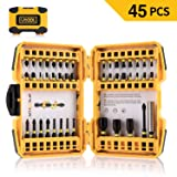 Impact Screwdriver Bit Set, Utool 45pcs Ultratorq Impact Driving Bits Mixed Set including 41 Screwdriver Bits, 3 Magnetic Nut Drivers and 1 Magnetic B