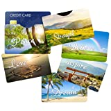 RFID Blocking Sleeves Credit Card Holder (6) Designer Protectors - Identity Theft Protection - Great Gift Idea (Color: Variety 1)