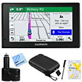 Garmin DriveSmart 51 NA LMT-S Advanced Navigation (010-01680-02) with Smart Features w/Accessories Bundle Includes, Dual 12V Car Charger for GPS, Screen Protectors, Protect & Stow Case Mini + More (Color: silver100)