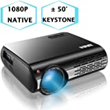 1080P Projector,XINDA 4000 Lux Native HD 1080P Projector with 327
