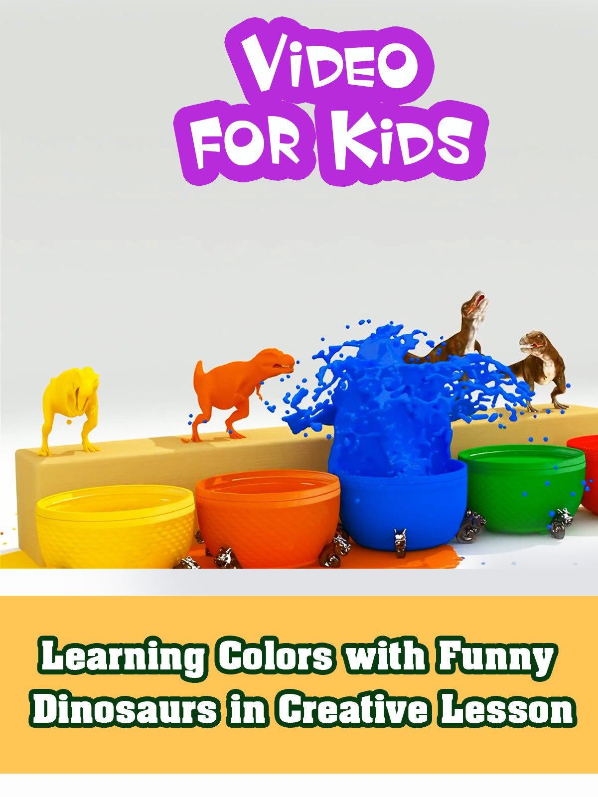 Learning Colors with Funny Dinosaurs in Creative Lesson on Amazon Prime Instant Video UK