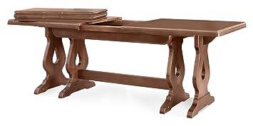 Tavolo allungabile in legno massiccio-Colore come foto