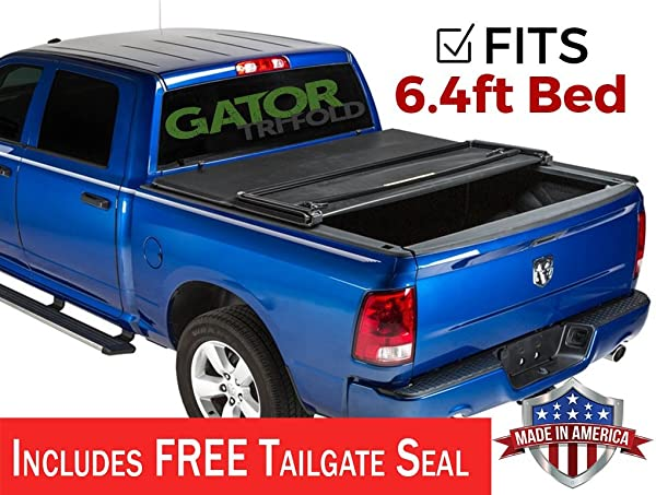 Gator Etx Soft Tri Fold Truck Bed Tonneau Cover Without Rail System 59402 6 1 2 Ft Bed Fits Toyota Tundra 2007 13 Tonneau Covers
